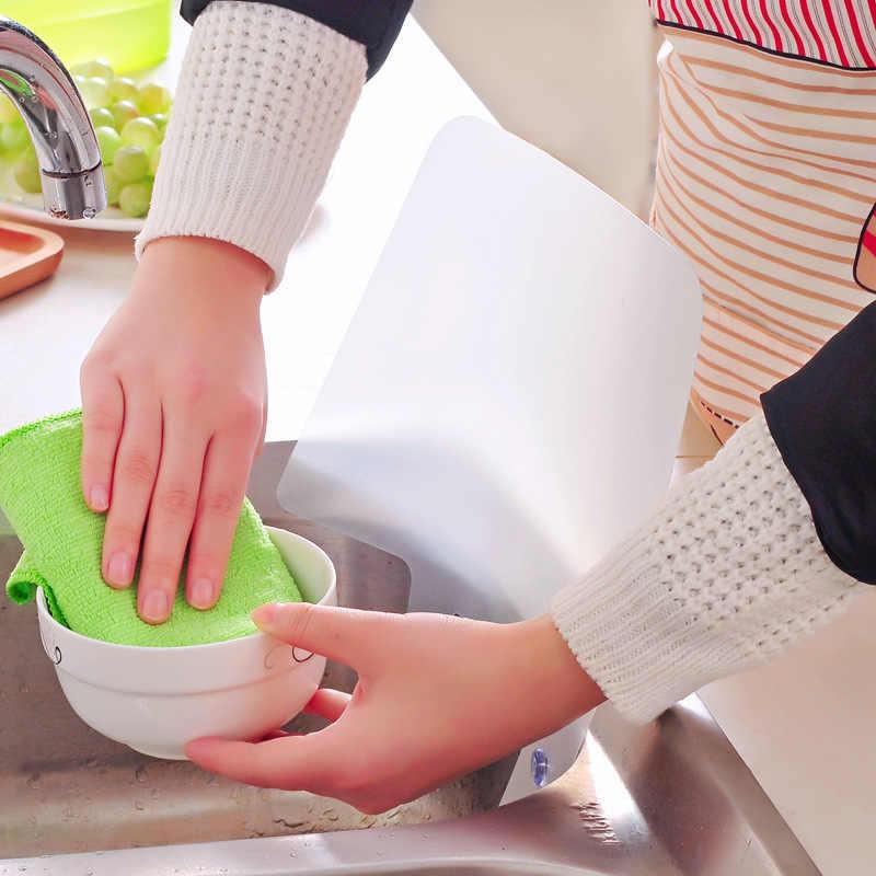 Mrosaa ห้องครัว Organizer เรซิ่นชั้นวางของ Prateleira ชั้นวาง Sucker Splash น้ำ Baffle สระว่ายน้ำคณะกรรมการห้องครัวตู้แร็คอ่างล้างจานชั้นวางของ