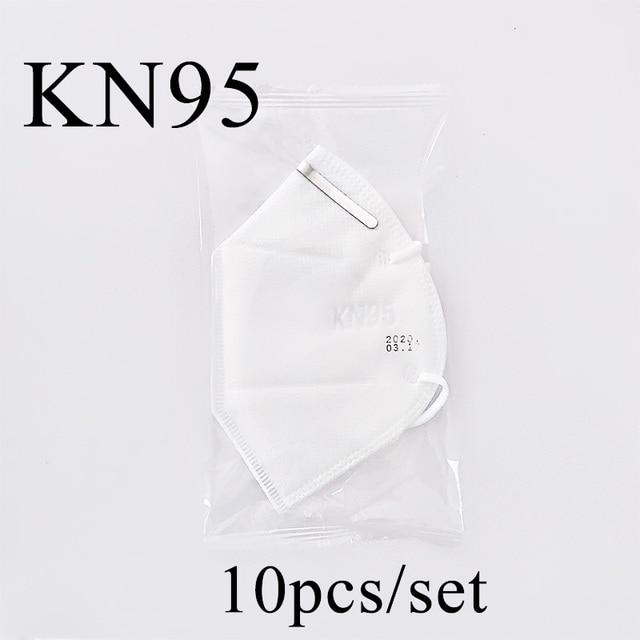 Fast Shipping 10PCS KN95 Mask Antivirus Flu Anti Infection KN95 Mouth Masks PM2.5 Protective Safety Face Masks Same as KF94 FFP2 2