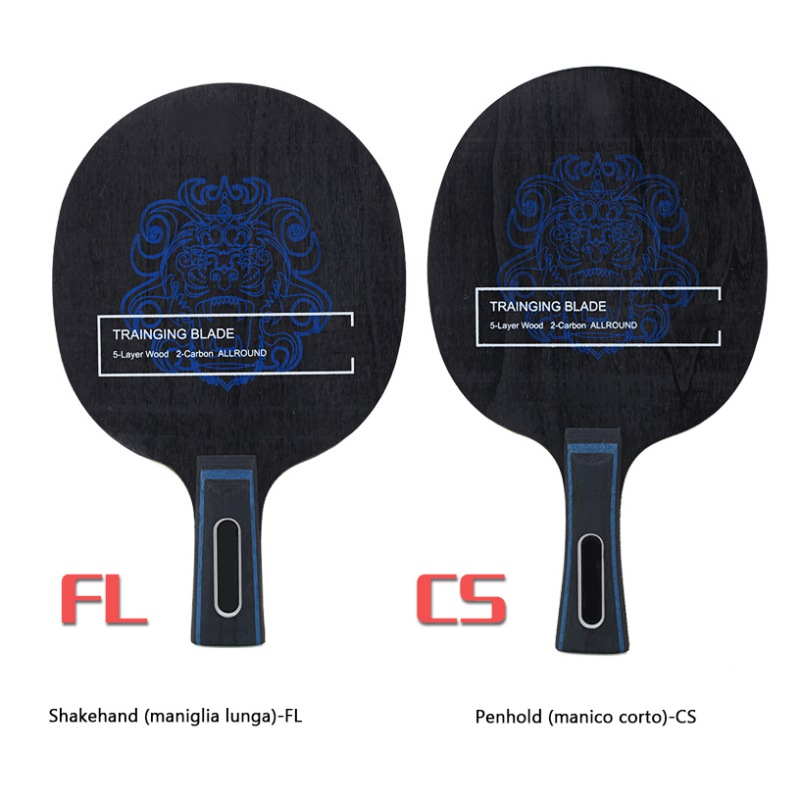 BOER Ping Pong Racket Long Grip Lightweight Carbon Fiber & Aryl Group Fiber Table Tennis Blade 7 Ply Table Tennis Blade New