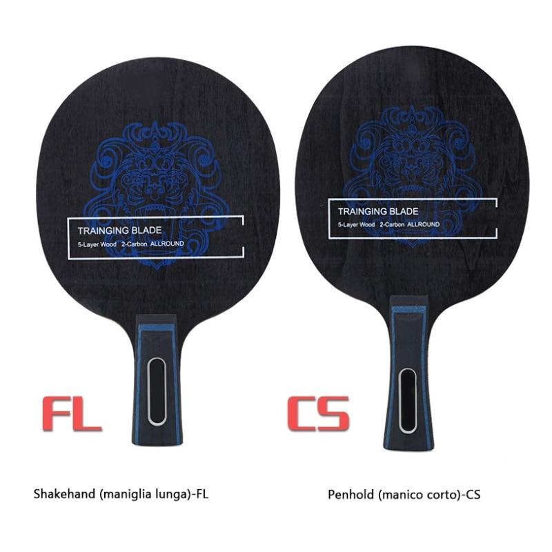 BOER Ping Pong Racket Long Grip Lightweight Carbon Fiber & Aryl Group Fiber Table Tennis Blade 7 Ply Table Tennis Blade New