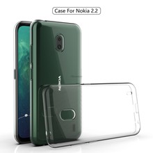 Claro transparente caso capa traseira para nokia 2.2 tpu silicone claro capa para nokia 2.2 cabido caso pára macio