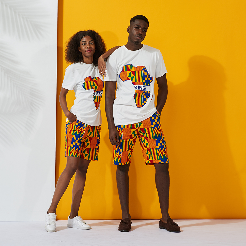 African Couple Clothes Suits Athletic Wear Casual Clothing African Women And Men Shirt Pant Set African Traditional Clothing