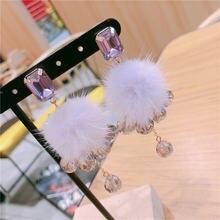 Корейский Розовый Синий Фиолетовый норковый пушистый шар длинные