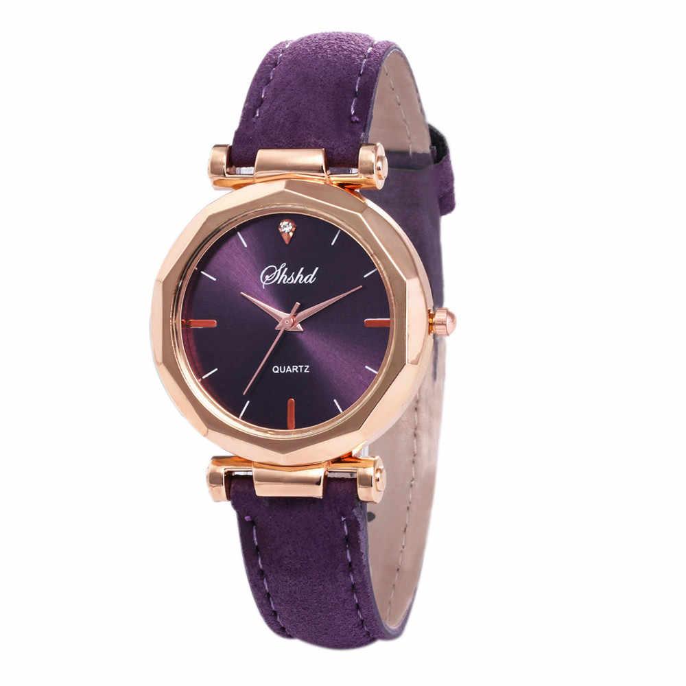 ファッション女性レザーカジュアル時計の高級アナログ水晶腕時計 horloges vrouwen ローブバヤン kol saati ファッションリロイ #30