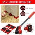 Передвижной транспортный набор инструментов для мебели, 4 передвижных ролика + 1 колесный брусок, сверхмощный подъемник для мебели, подъемны...