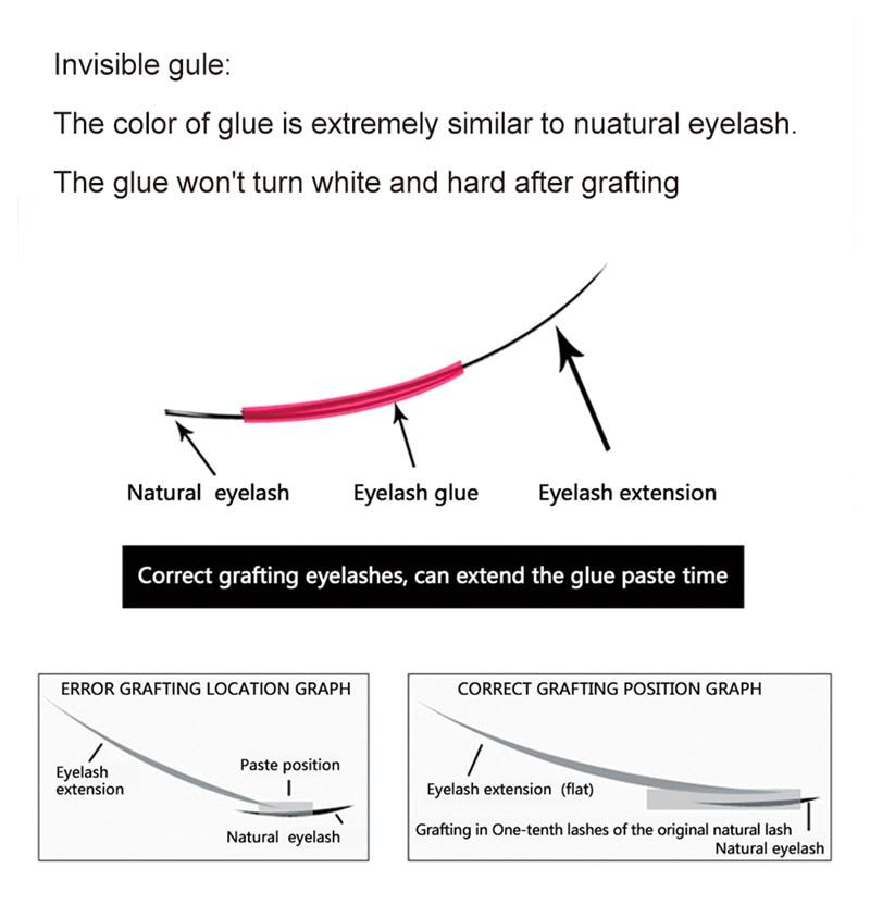 lash extensão removedor transparente para cílios extensão