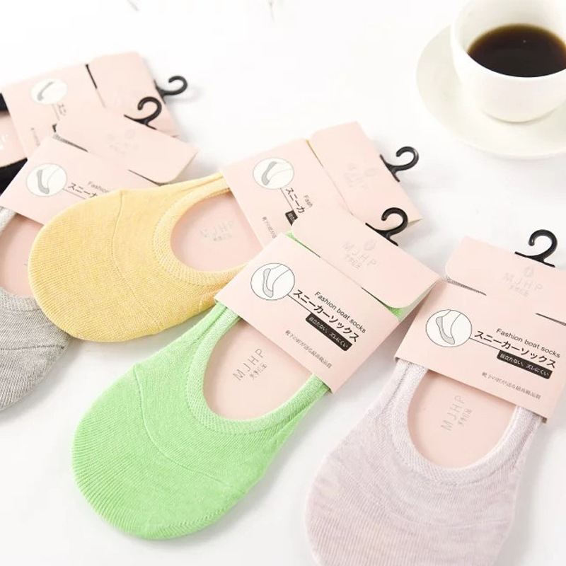 New Products Yoga Socks New Products Summer Multilayer Cotton Solid Color Women's Low-Cut No-show Socks Anti-slip Socks Hidden S