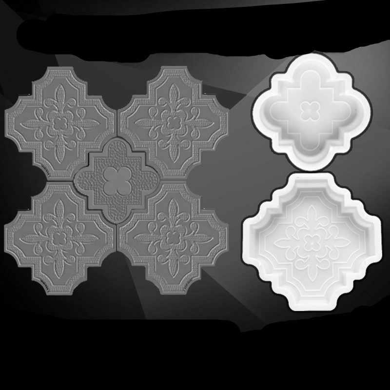โบราณโบราณอิฐกระเบื้องซีเมนต์ชั้นทำแม่พิมพ์ Handmade เส้นทางทางเท้าแม่พิมพ์พลาสติก