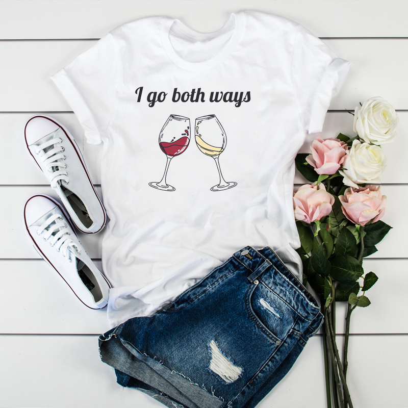 Women Beer Wine Cheer Happy Fashion Print Clothes Ladies Womens T-Shirt Graphic Tops Clothes Female Tumblr T Shirt T-shirts