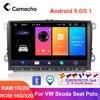 Camecho Android 9.0 samochodowe Radio odtwarzacz multimedialny 9 ''HD nawigacja GPS dla VW Passat Golf MK5 MK6 Jetta T5 EOS POLO Touran Sharan