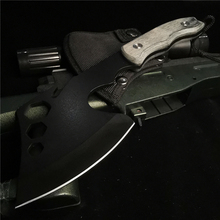 Bone-Cutter Ax Short-Handle Blade Outdoor-Adventure Stainless-Steel Portable Sharp 350G