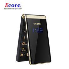 YEEMI M2-C GSM MTK Flip cep telefonu 2.84 inç çift ekran büyük harfler titreşim MP3 Bluetooth cep telefonu ebeveynler için