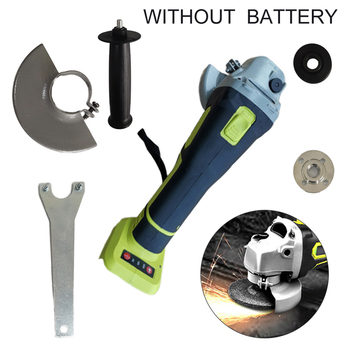 18V Portable Electric Rechargeable Angle Grinder Cordless Power Tool No Battery  Soft Rubber Grip Design