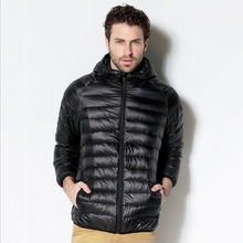 Autumn and Winter Men's Fine Quality Thin and Light Casual Hooded Down Jackets Premium Brand Comfortable Men Down Coats(China)