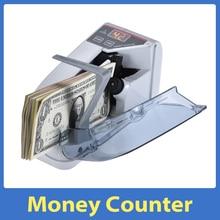 Мини-Денежная машина для счета валюты, ручная купюра, счетчик банкнот, средства переменного тока или на батарейках для фальшивых денег в дол...