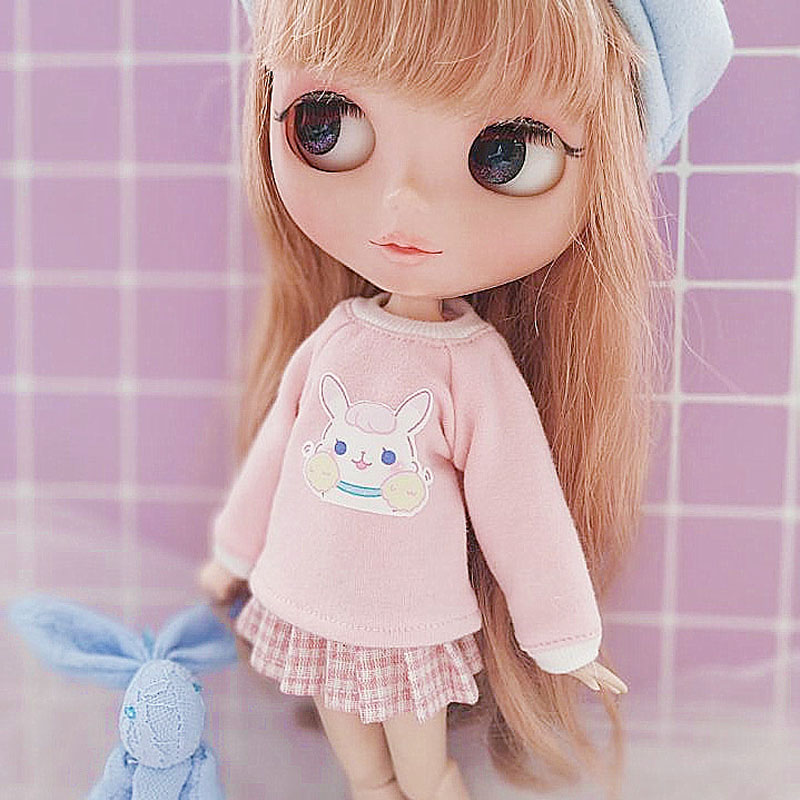 Blyth doll clothes Long T-shirt for Azone Momoko Licca Blyth Doll accessories