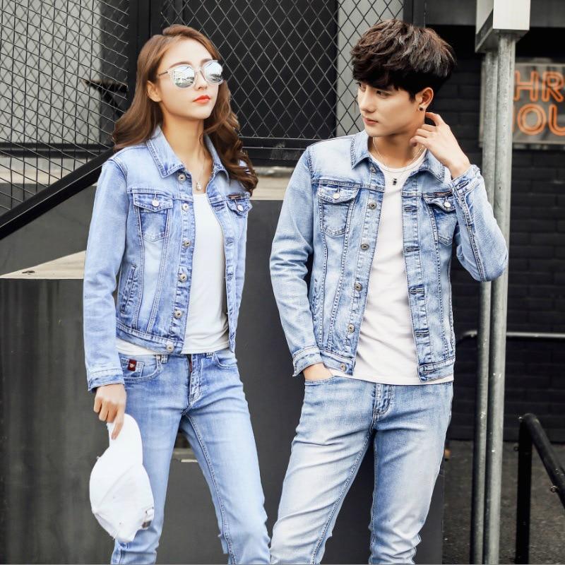 Mens Jeans Suit Sweat Women Set Men Jacket Spring/autumn Jeans Tracksuit Street Style Cowboy Coat Plus Size Men's Casual Suit