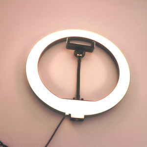 Image 4 - 10 inch USB Dimmable LED Selfie Ring Light Studio Ring Light Camera Phone Photography Video Makeup Lamp With Phone Clip Holder