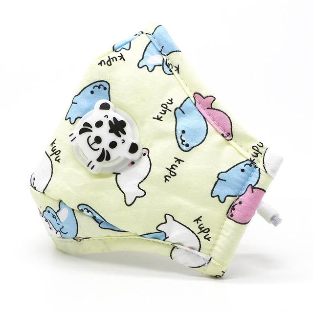 5 PCs/Lot Breathable Cartoon Cotton Dust Mask Anti Flu Reusable Mask for Children Mouth Mask Unisex Maska Washable Mascherine 2
