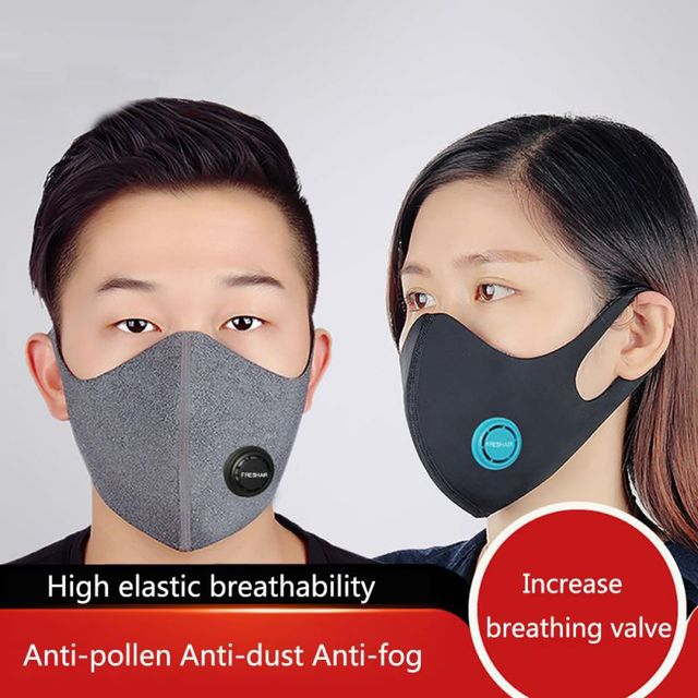 Cotton PM2.5 Black mouth Masks anti dust mask Activated carbon filter Windproof Mouth-muffle bacteria proof Flu Face masks 1