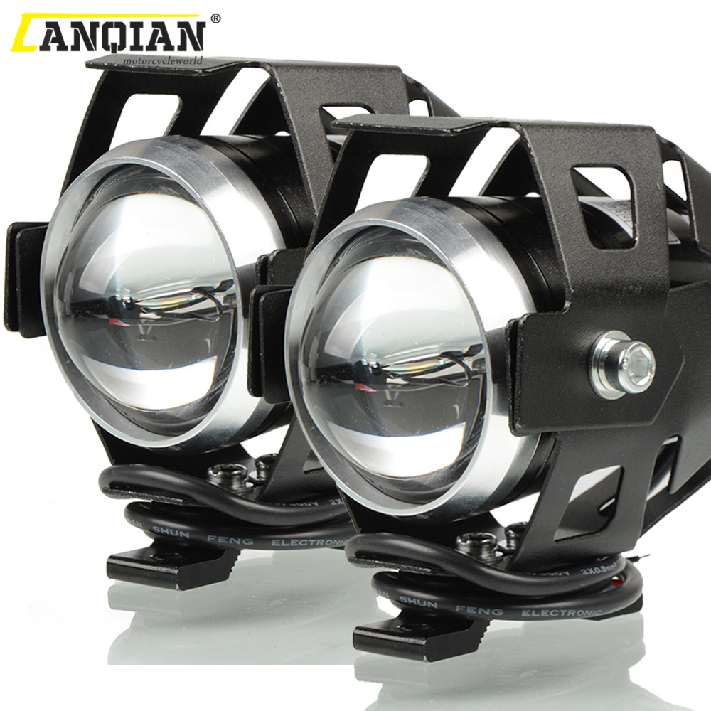 125W 12V Motorcycle Headlight Motorbike 3000LM Moto Spotlight U7 LED Driving Fog Spot Head Light Decorative Lamp