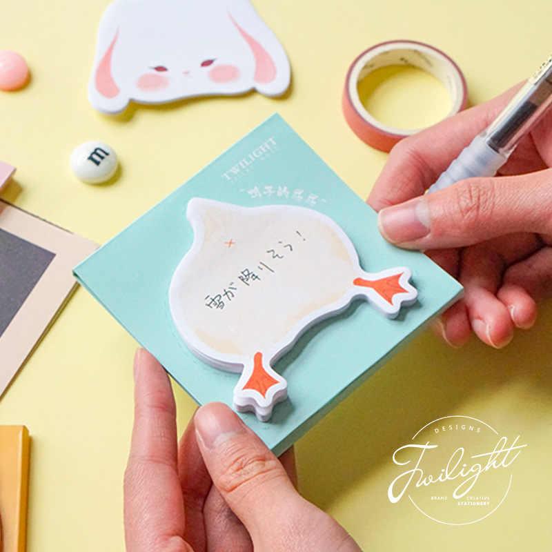 Mignon Kawaii Dessin Animé Cul Note Collante Animal Chat