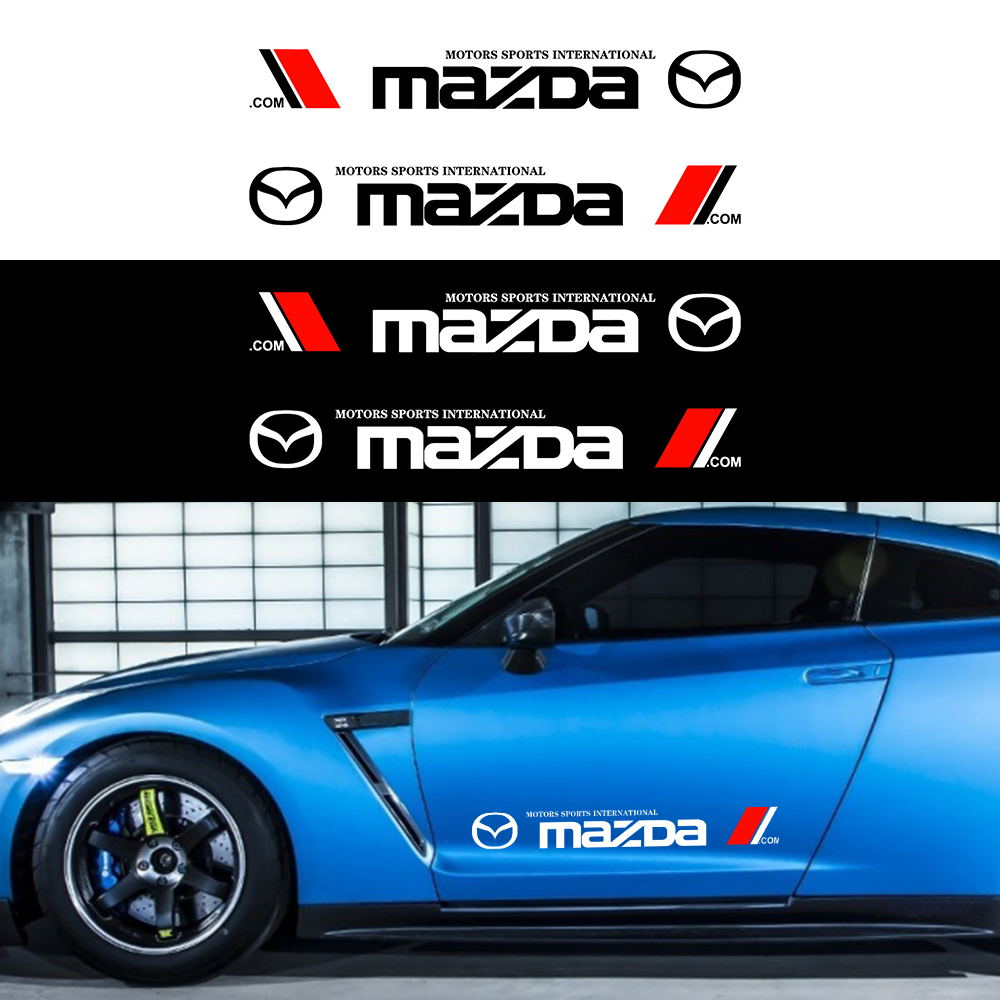 2 шт. стайлинга автомобилей боковой двери наклейки для автомобиля кузова винил нашивки наклейки для MAZDA ATENZA Axela для детей 2, 3, 4, 5, 6, CX6 CX-5 CX4 CX3 MX-5...