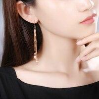Handmade Round Earrings for Women High Quality Jewelry Accessories Wedding Long Earrings Woman Jewelry