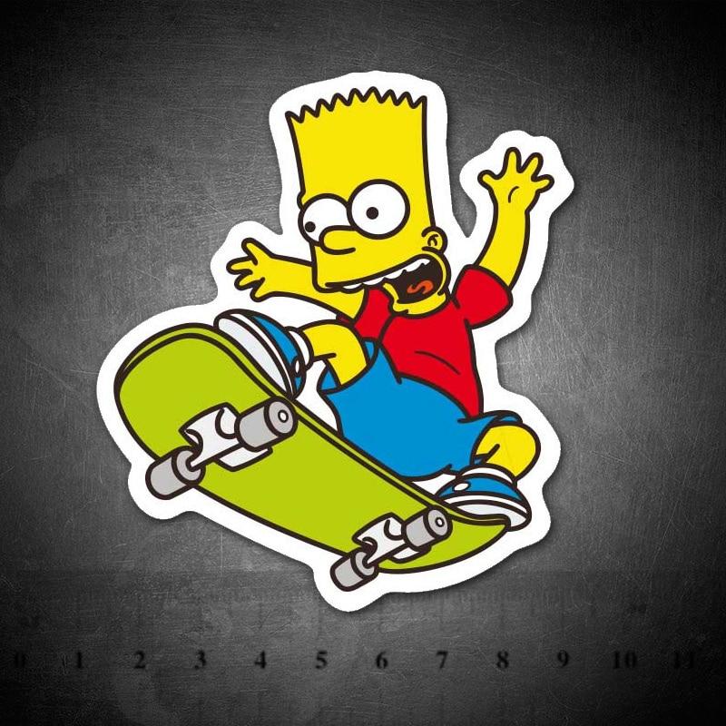 Cartoon Simpsons Waterproof PVC Children DIY Stickers Skateboard Guitar Suitcase Graffiti Sticker Kids Classic Toy
