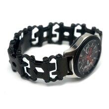 Correa de reloj de acero para Samsung Galaxy Watch, correa de reloj para Garmin Fenix 3 HR 5X, 46mm Gear S3
