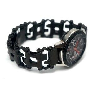 Image 1 - Voor Samsung Galaxy Horloge 46mm Gear S3 Stalen Metalen Tool Horlogeband Horlogeband Armband Voor Garmin Fenix 3 HR 5X Horloge Band
