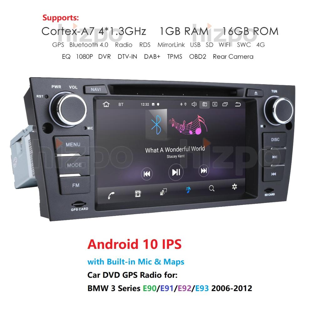 <font><b>Android</b></font> 10 In Dash Car Stereo Radio Multimedia Player for <font><b>BMW</b></font> <font><b>E90</b></font> <font><b>E91</b></font> <font><b>E92</b></font> <font><b>E93</b></font> with wifi BT GPS Navigation Head Unit OBD2 DVR RDS image