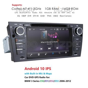 Android 10 In Dash Car Stereo Radio Multimedia Player for BMW E90 E91 E92 E93 with wifi BT GPS Navigation Head Unit OBD2 DVR RDS image