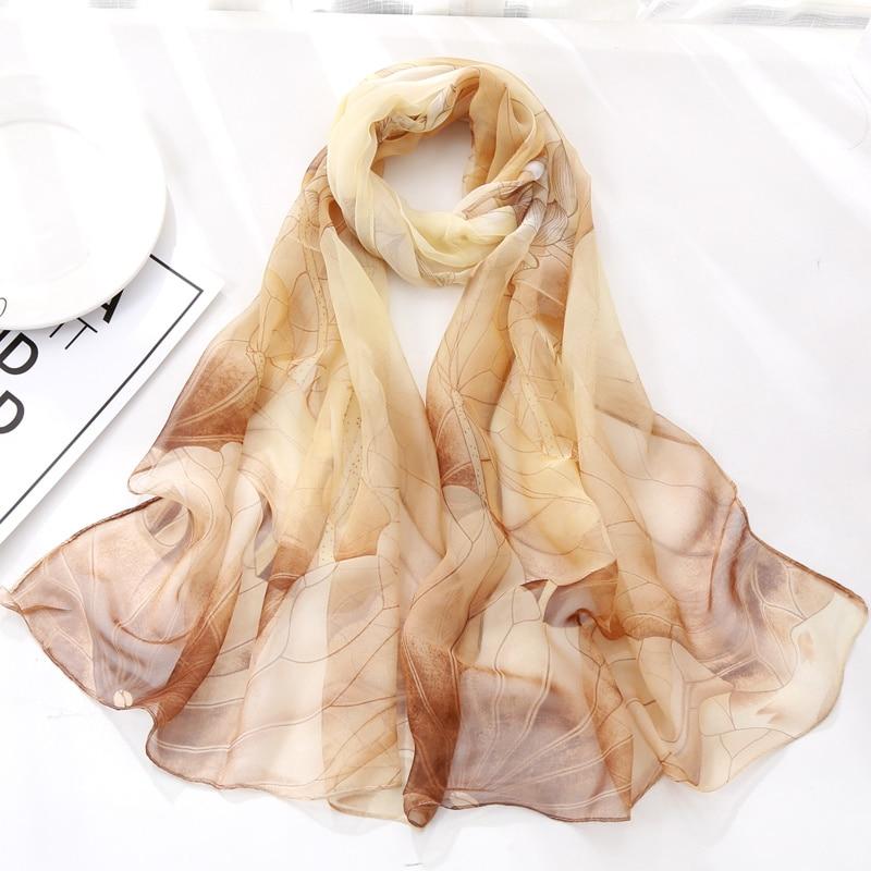 Summer Femme   Scarves     Scarf     Scarf   Women Floral Lotus Printing Long Soft   Wrap     Scarf   Ladies Shawl Veil