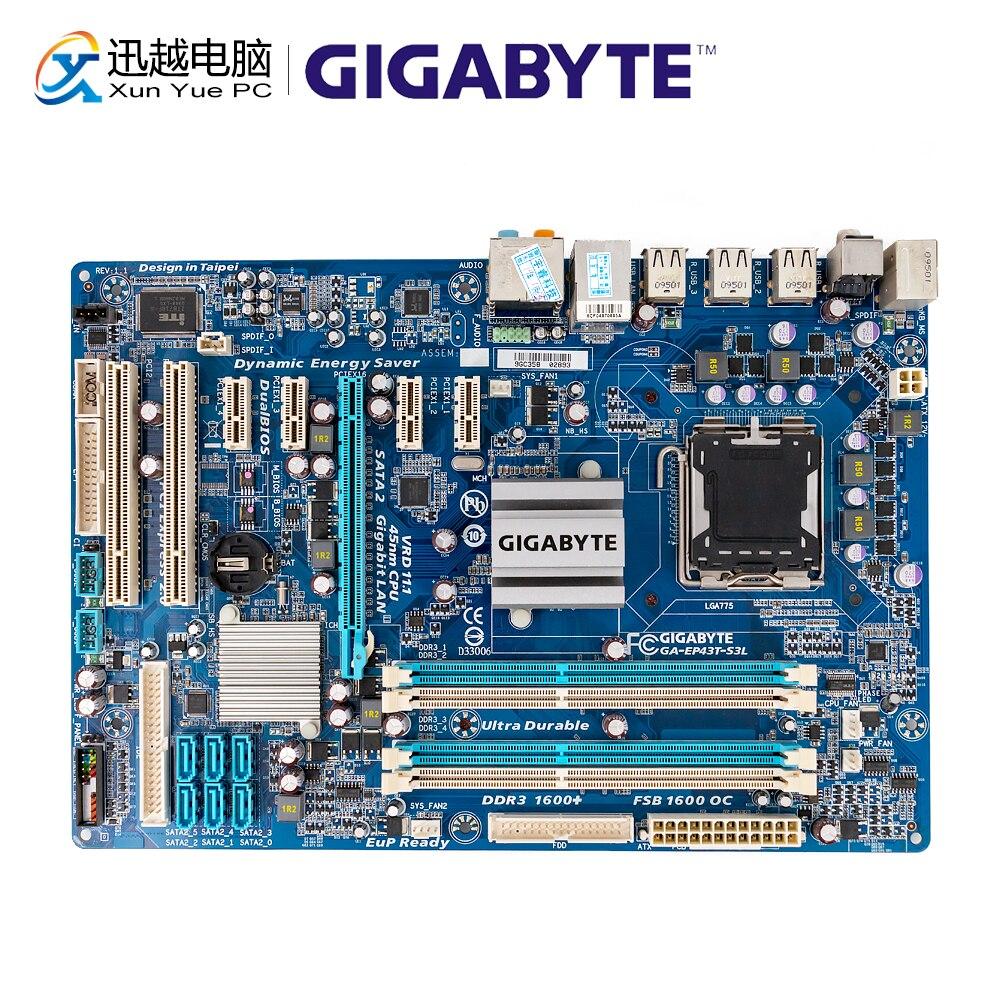 Gigabyte GA-EP43T-S3L Desktop Motherboard EP43T-S3L P43 Socket LGA 775 DDR3 16GB ATX