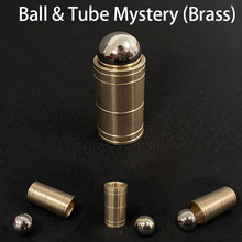 Ball & Tube Mystery (Brass) Magic Tricks Close up Magia Mentalism Illusion Gimmick Props Steel Ball Sink Down Into Tube Magie amazecups danny orleans magic tricks comedy stage close up magia illusion mentalism gimmick props cup magie for magicians