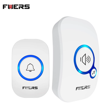 FUERS M557 פעמון אלחוטי 433Mhz בית בברכה פעמון חכם 150M ארוך אלחוטי מרחק 32 שירים בית בברכה דלת פעמוני
