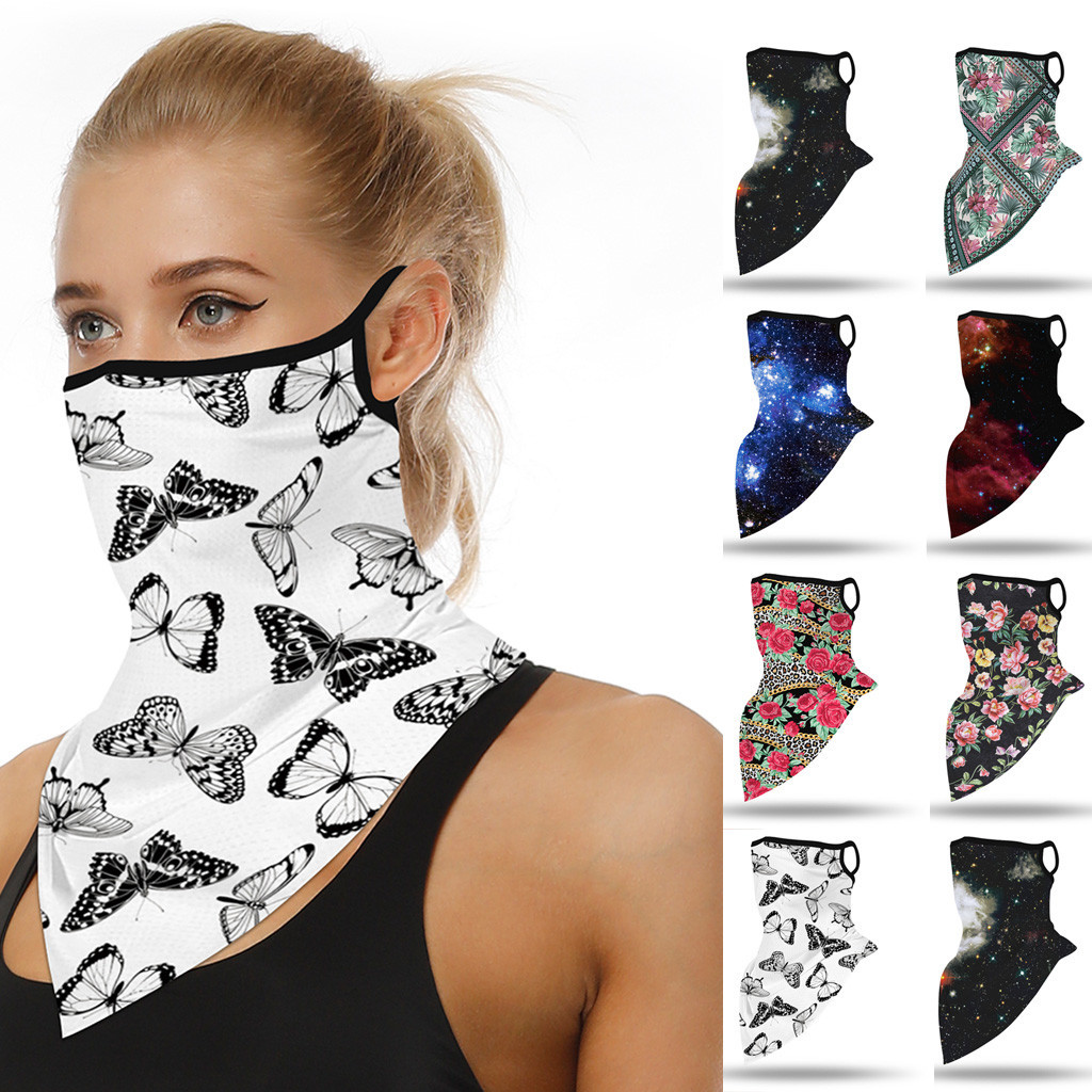 Outdoor Bandana Face Print Seamless Ear Face Cover Dustproof Sports Scarf Neck Tube Face Masks Dust Riding Cycling Party Favors(China)