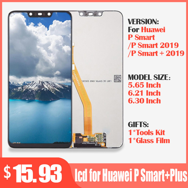 Originele lcd voor Huawei P Smart + Plus 2019 Lcd scherm + Touch Screen Digitizer Vergadering LCD Display P Smart 2019 Scherm