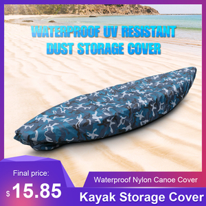 Kayak Storage Cover Universal Sport Waterproof Nylon Solar UV Resistant Dust Storage Cover Boat Canoe Dust Cover Shield(China)