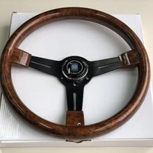 Италия ND 14 дюймов деревянный вид рулевого колеса Дрифт спортивный руль