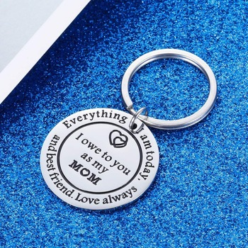Thank You Keychains Mother's Day Key Chain Mom Gift  for Birthday Wedding Appreciate for Mother Mama Stepmother from Daughter 1