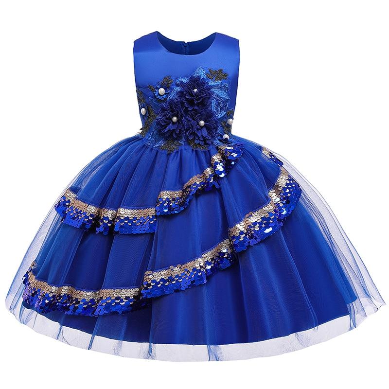 2019 Flower Girl Dresses For Children Kids Girl Ball Gown First Communion Girls Pageant Dresses Elegant Evening Dress
