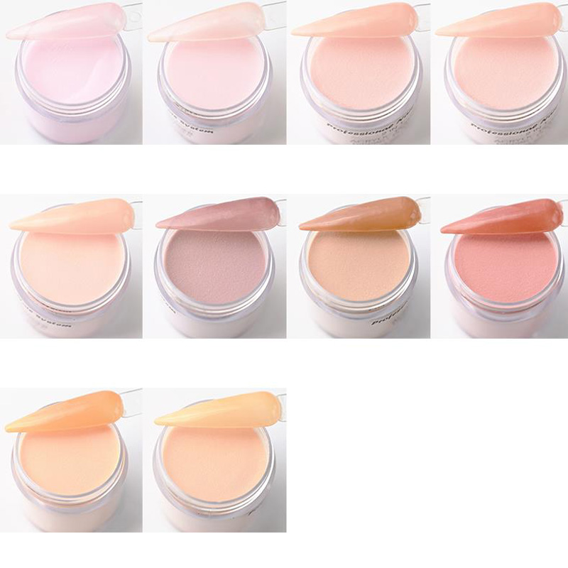 Nude Acrylic + Dip Collection - 1 oz - Nail Dip Dipping Powder – Acrylic Nude color Pigment Powders Pro Collection System, 1 Oz.