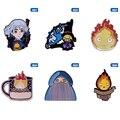 Ходячий замок эмалированная брошь-кнопка Софи огонь демон Calcifer повесить одежду репа головка Studio Ghibli вентиляторы коллекция