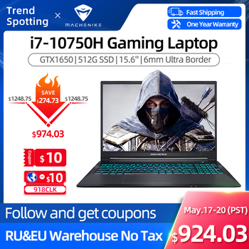 Machenike T58 Gaming Laptop intel i7 10th Gen 15.6 FHD Laptop GTX1650 Computer Laptops 16G RAM 512G SSD 1T HDD Notebook IPS 1