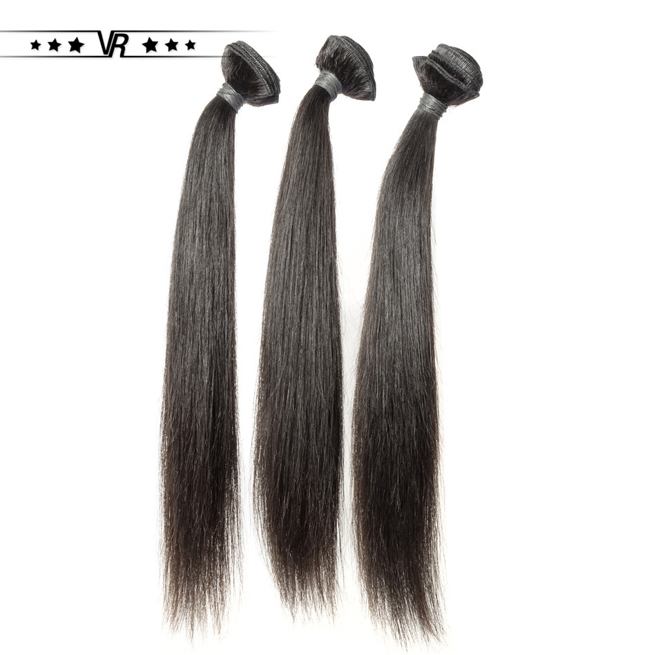 VR Star Quality Peruvian Weave Cuticle Aligned Hair Silk Straight Bundle Nature Color Sew In Weave