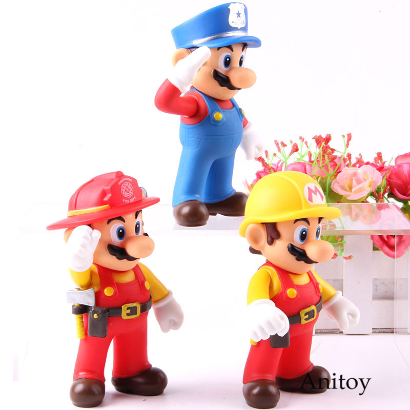 Mario Bros  Size The Worker Mario Action Figure PVC Collection Model Toy Doll For Gift 1