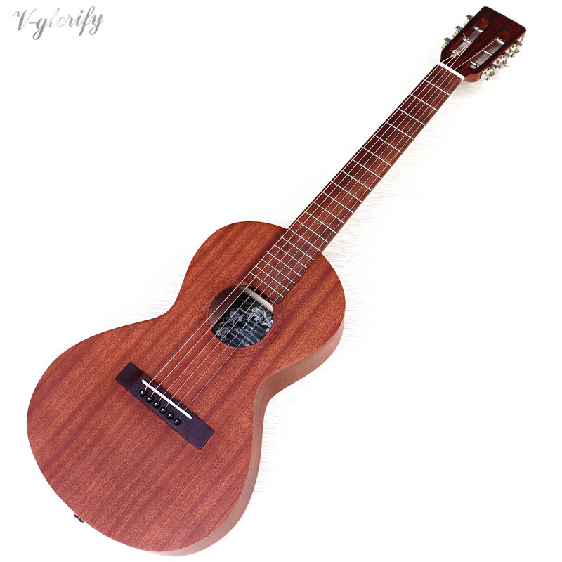 <font><b>36</b></font> inch full Sapele acoustic <font><b>guitar</b></font> 6 string mini <font><b>guitars</b></font> travel <font><b>guitar</b></font> image