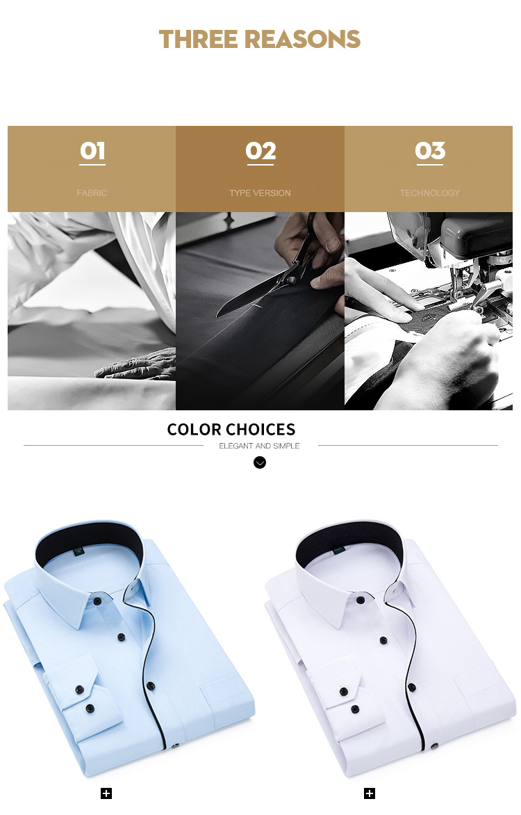 H0cb51583d02843b0ad58e522de07aeecC Autumn New Men Shirt Smart Casual Long Sleeved Button Down Male Twill Shirts Formal Business White Blouse 4XL 5XL